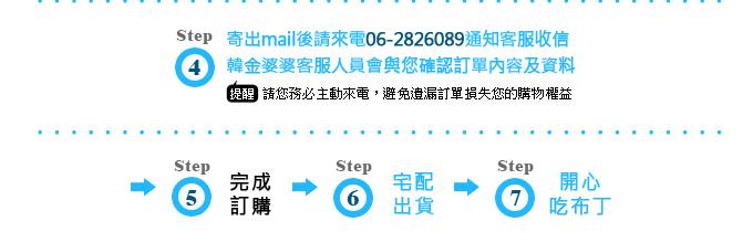 Email訂購流程(甜點伴手禮)